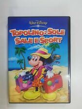 DVD WALT DISNEY TOPOLINO SOLE SALE E SPORT DVD EDITORIALE