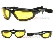 """Foam Padded Night Driving Choppers Glasses"" Yellow Lens Driving Sunglasses"