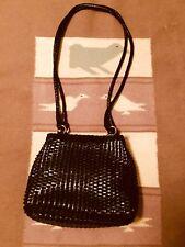 Talbots Black Woven Leather Crossbody Magnetic Closure Bag Purse