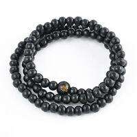 Men's Sandalwood Buddha Buddhist Prayer Beads Mala Wrist Bracelet Necklace Gift