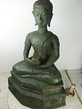 Alte große Buddha Bronze Geweiht Yin & Yang Original Unikat Thailand  ~1960 49cm