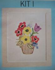 Vase of flowers  crewel embroidery kit I