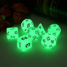7x Luminous Polyhedral Dice Set For TRPG MTG Dungeons & Dragons DND Table Game