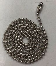 "500 Ball Chains Nickel 30"" inch #3 Dog tag Bead Chain"