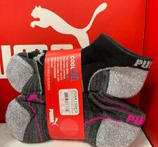 8-Pair Puma Ladies No Show Sock Black, Fits Shoe Size 5-9.5, NEW FAST SHIP