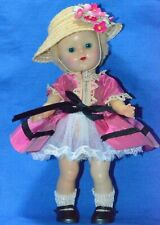 "Vintage 1953 Vogue 8"" Ginny Doll Strung in Rare Tagged Outfit PL"