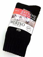 3 PAIRS LADIES SZ 7-11 BLACK MERINO WOOL THERMAL CUSHION FOOT WORK SOCKS