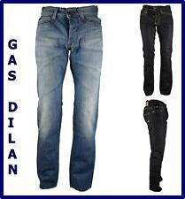 jeans da uomo gas regular fit a gamba dritta dritti vita bassa blu w29 w30 42 44