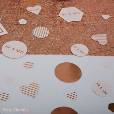 Wedding Table Confetti / Scatter- Rose Gold Text