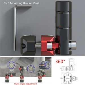 Heavy Duty CNC Mounting Bracket Post Adjust for Motorcycle LED Head Fog Light