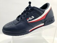 Fila Original Fitness Athletic Sneakers Casual Navy White Red Size 10 11F16LT