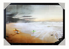 Surf Image - Hawaii Green Surfboard - FRAMED  READY TO HANG SEASCAPE