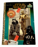 Vintage 1997 Golden Books Star Wars Tell-A-Story Sticker Book Complete New