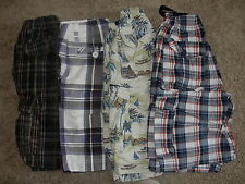 TCP Urban Pipeline Old Navy Boys Plaid Preppy Shorts * Youth Small 8 *  Lot of 4