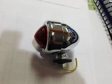 CHROME 12 VOLT RED BULLET LIGHT HARLEY DAVIDSON & CUSTOM CHOPPERS TURN SIGNALS