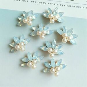 Gorgeous Crystal Pearl Buttons Sewing Decorations Wedding Invitation Accessories