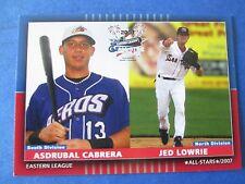 2007 EL All-Star set w/ JED LOWRIE and ASDRUBAL CABRERA