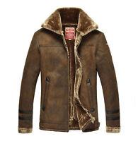 Mens Military Vogue Overcoat Wool Cashmere Peacoat Mid Long Woolen Coat Treny