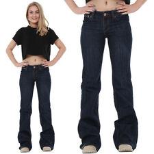Indigo, Dark wash Low L32 Jeans for Women