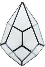 Black Teardrop Glass Geometric Vase Terrarium Centerpiece