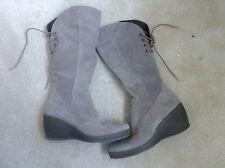 Ladies Italian Leather Suede boots Wedge Heel VERA PELLE Size 38 5