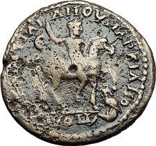 CARACALLA on Horse & JULIA DOMNA 198AD Marcianopolis Ancient Roman Coin i58417