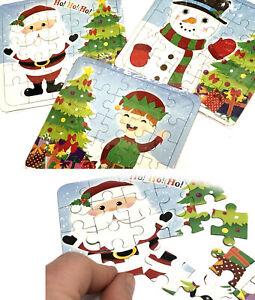 3 x JIGSAWS SANTA SNOWMAN ELF BOYS GIRLS KIDS XMAS CHRISTMAS STOCKING FILLERS