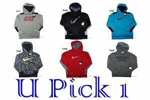 Nike Hoodie Therma Fit Boys Jacket Coat Athletic Sports Coat Youth Warm