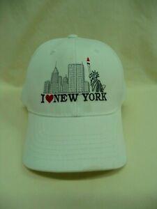 White I (Heart) New York Embroidered Trucker Hat Baseball Cap