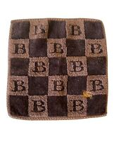 BURBERRY Brown Check Face Towel Wash Cloth