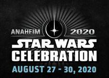 1 Star Wars Celebration Anaheim 2020 Erwachsene Freitag Pass Ticket Sold aus!