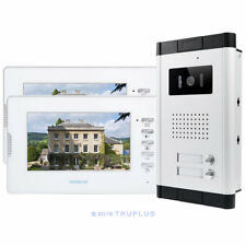 HOMSECUR 7inch 2-Apartment Door Entry Intercom with HD Video and IR Night Vision