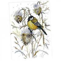 Birds Cross Stitch Stamped Kits for Teens Girls 14CT Counted Needlepoint