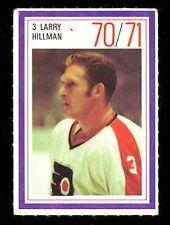 1970-71 ESSO POWER PLAYERS NHL #3 LARRY HILMAN EX-NM FLYERS UNUSED HOCKEY STAMP