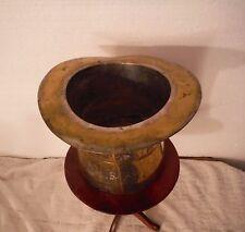 """Antique Heavy Bronze Top Hat Spittoon 9"""" x 6"""" Weights Over 4 lbs"""