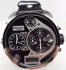 Diesel DZ7125 Black Dial Chronograph Dual Men's Watch Time 4 and 2 Needs Repair