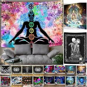Boho Indian Mandala Tapestry Wall Hanging Buddha Bedspread Throw Blanket Mat HOT