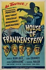 1944 horror film HOUSE OF FRANKENSTEIN vintage movie poster KARLOFF 24X36
