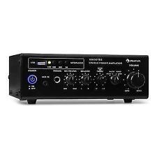 Stereo Amplifier Hi Fi Microphone System PA RCA Karaoke Headphones Jack USB Mp3