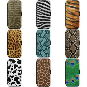 ANIMAL LEOPARD SKIN PRINT PATTERN WALLET FLIP PHONE CASE COVER FOR SAMSUNG