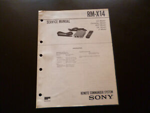 Original Service Manual Schaltplan  Sony RM-X14