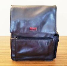 Perlina Black Leather Backpack