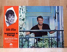 INSIEME A PARIGI fotobusta poster Audrey Hepburn William Holden Paris CA22