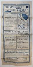 """Bruges Belgium 1932 Concert Program with Advertisements, """"Kosteloos Programma"""""""