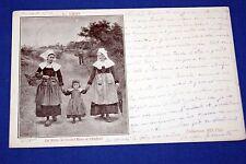BRETAGNE LA MERE LA GRAND'MERE ET L'ENFANT L.GROS 1903