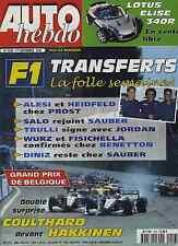 AUTO HEBDO n°1203 du 1er Septembre 1999 GP BELGIQUE LOTUS ELISE 340R