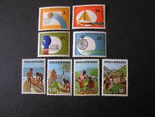 PAPUA NEW GUINEA, SCOTT, # 328-331(4)+332-335(4) 1971 VARIOUS ISSUES MNH