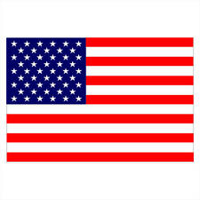 "American Flag Large! Usa Durable! Decal Sticker 18""x12"""
