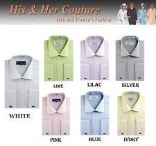 New Men's Fashion Elegance Striped Dress Shirt French Cuff Long Sleeve SG30