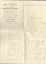 45 NEUVILLE-AUX-BOIS COURRIER HOTEL DU COMMERCE DELABORDE FAGUERET PINSARD 1906